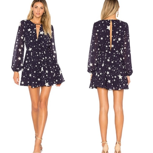 Lovers + Friends Dresses & Skirts - 🆕Lovers + Friends Lana Navy Cosmic Star Dress